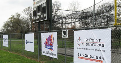 EWA ball field advertising banners. 12-Point SignWorks - Franklin TN