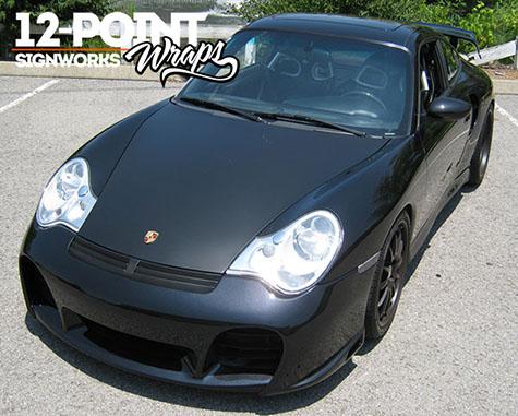 Matte Black Car Wrap >> Matte Black Hood Wraps Freshest Car Wrap Trend On The Road