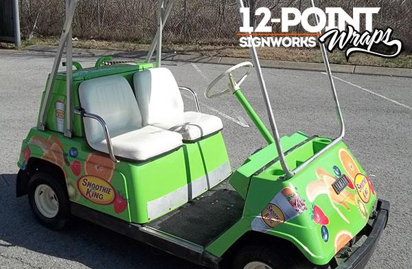 3 types of custom vinyl wrap graphics for golf carts 12 for Narrow golf cart