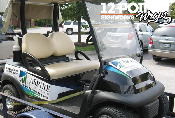 3 types of custom vinyl wrap graphics for golf carts – 12