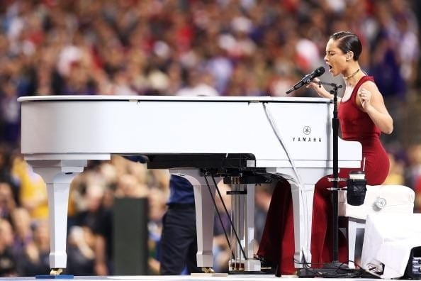 Super Bowl Piano Wrap For Alicia Keys And The National Anthem 12 Point Signworks
