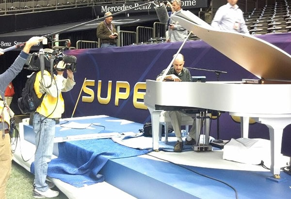 Seale Keyworks tuning the Super Bowl piano on site. 12-Point SignWorks - Franklin TN