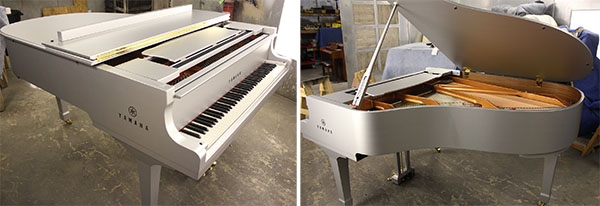 Super Bowl vinyl piano wrap after re-assembly. 12-Point SignWorks - Franklin TN
