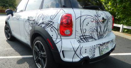 Finished cut vinyl car graphics for Mini Cooper. 12-Point SignWorks - Franklin TN