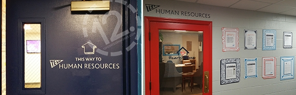 The HR area of Loews Vanderbilt, including custom made PVC frames. 12-Point SignWorks - Franklin, TN