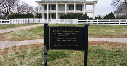 New post and panel yard sign for the Carnton Plantation in Franklin TN. 12-Point SignWorks