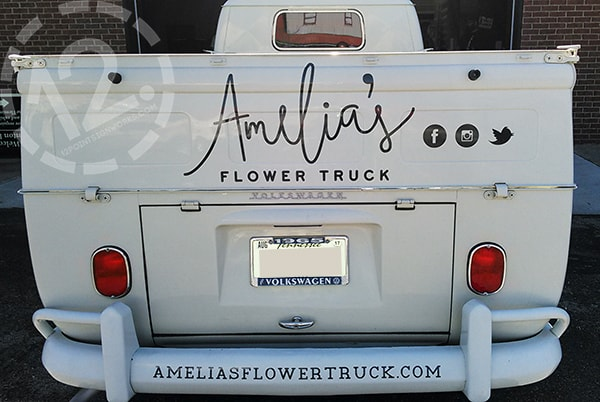 Custom Truck Graphics For Melody Amelia S Flower Truck