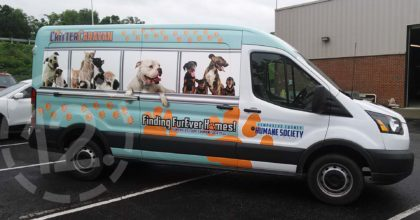 "Humphreys County ""Critter Caravan"" takes animals to their new ""FurEver"" home. 12-Point SignWorks - Franklin TN"