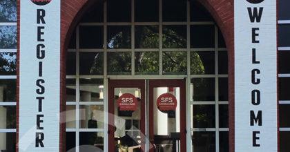 Exterior entrance at SFS Cavalcade North America 2017. 12-Point SignWorks - Franklin TN