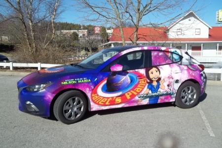 Full Vehicle Wrap for Janet's Planet Inc. / 12-Point SignWorks/ Franklin TN/ Custom Design
