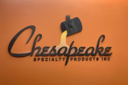 Dimensional Steel Logo Sign for Chesapeake Specialty Products Inc.