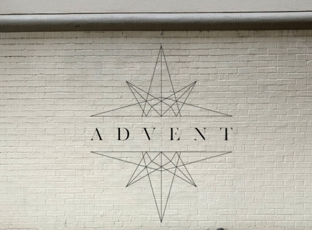 Advent wall graphics for Church of the City. 12-Point SignWorks - Franklin TN