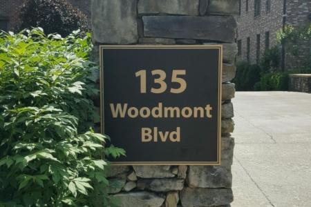 Custom address plaque. 12-Point SignWorks - Franklin TN