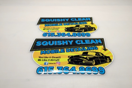 21581- Vehicle Magnets for Squishy Clean Mobile Detailing