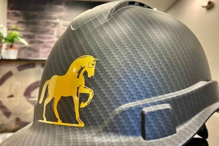 21492- Helmet Decals for Warhorse Venture in Franklin, TN/ 12-Point SignWorks
