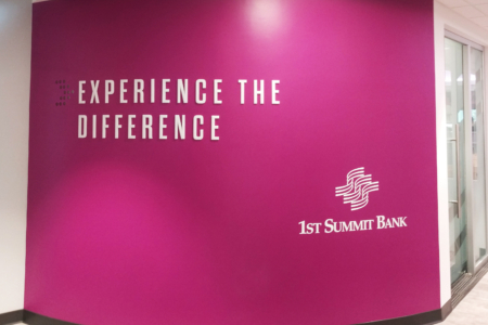 Dimensional Lettering & Vinyl Wall Graphics for 1st Summit Bank/ Johnstown, PA/ 12-Point SignWorks