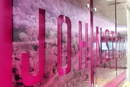 Acrylic Display Panels and Wallcovering for 1st Summit Bank/ 12-Point SignWorks
