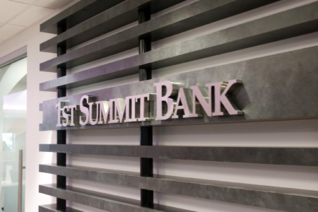 Dimensional Logo Sign/ Stainless Steel for 1st Summit Bank/ Johnstown, PA/ 12-Point SignWorks