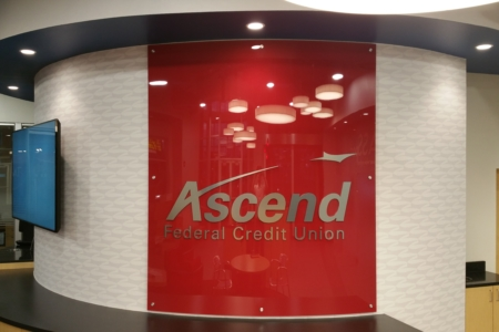 Wall Display With Dimensional Letters for Ascend Federal Credit Union