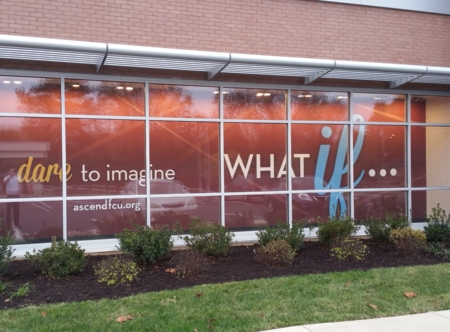 Custom wall mural for Ascend Federal Credit Union. 12-Point SignWorks - Franklin TN