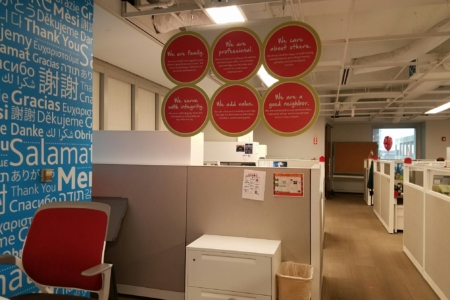 """Hanging Branded Graphics for Loews Hotels & Resorts' """"Heart of House""""/ 12-Point SignWorks"""