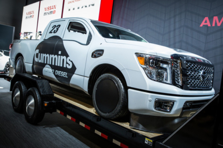 Custom Truck Wrap for Nissan North America & Cummins-2015 SEMA Show