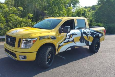 Custom Truck Wrap/ Fleet Graphics for the Nashville Predators/ 12-Point SIgnWorks