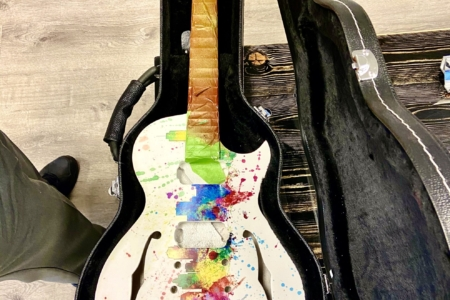 New Custom Graphics for an Electric Guitar Build by 12-Point SignWorks