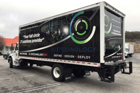 Box Truck Wrap for 3D Technology/ 12-Point SignWorks