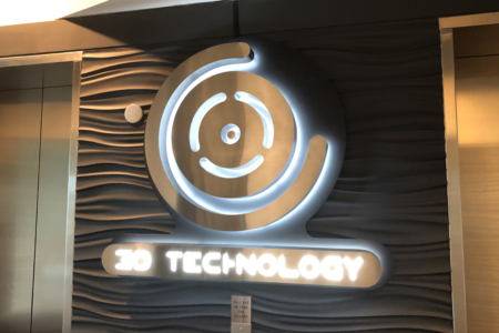 Custom Backlit Logo Sign for 3D Technology in Franklin, TN/ 12-Point SignWorks/ Lobby Graphics