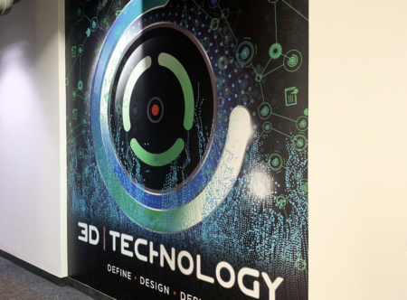 Custom wall mural for 3D Technology. 12-Point SignWorks - Franklin, TN