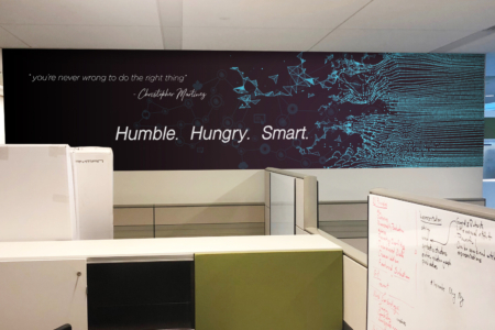 Custom Wall Mural for 3D Technology in Franklin, TN/ 12-Point SignWorks