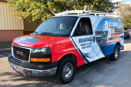 Fleet Graphics for Action Air/ Franklin/ Nashville/ 12-Point SignWorks