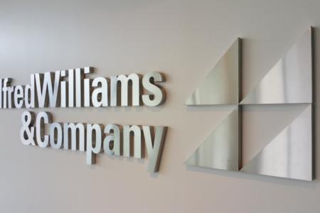 Custom Logo Sign/ Vinyl/ Aluminium for Alfred Williams & Company/ Franklin/ 12-Point SignWorks