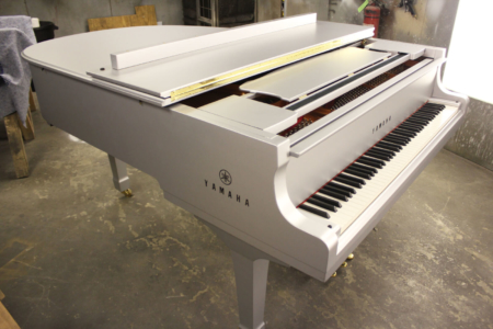 Custom Piano Wrap Fabricated & Installed by 12-Point SignWorks for Alicia Keys/ Super Bowl XLVII/ National Anthem