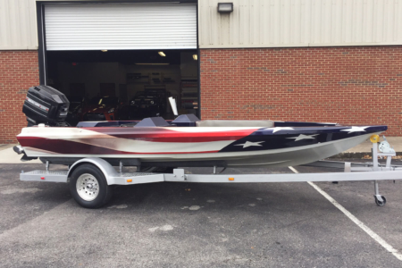 Custom Boat Wrap Fabricated & Installed by 12-Point SignWorks