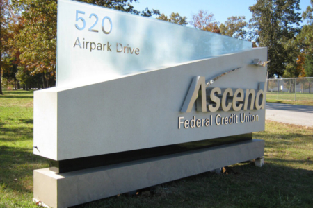 Exterior Architectural Logo/ Dimensional Letters for Ascend Federal Credit Union