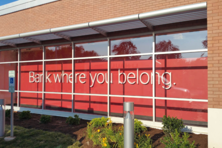 Window Display & Dimensional Letters and Acrylic Panels for Ascend Federal Credit Union/ 12-Point SignWorks/ Franklin, TN