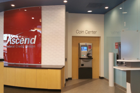 Custom Experiential Branding Graphics for Ascend Federal Credit Union/ 12-Point SignWorks/ Franklin, TN
