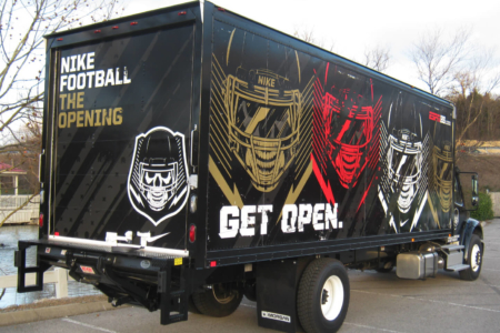Custom Box Truck Wrap fabricated & installed by 12-Point SignWorks