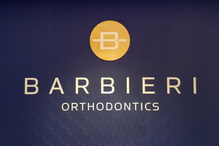 Dimensional Letterings And Wooden Brand Mark for Barbieri Orthodontics/ Franklin/ 12-Point SignWorks