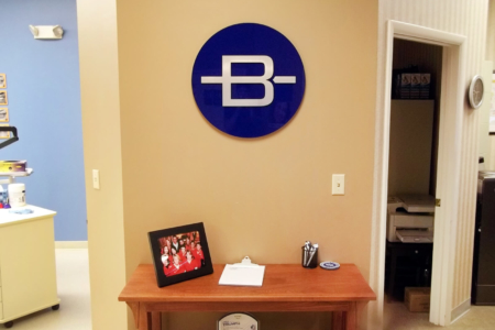 Lobby Graphic/ Logo Sign for Barbieri Orthodontics/ Franklin, TN/ 12-Point SignWorks