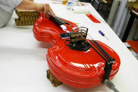 Custom Violin Wrap Fabricated & Installed by 12-Point SignWorks