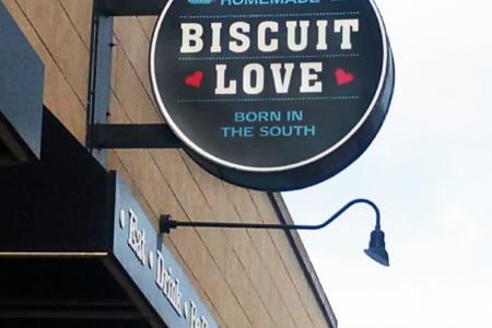 Custom Lighted Exterior SIgn for Biscuit Love/ Nashville/ 12-Point SignWorks/ Branding Graphics