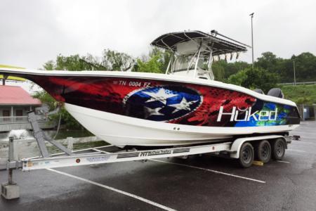 Custom Boat Wrap/ Franklin, TN/ 12-Point SignWorks/ Vinyl