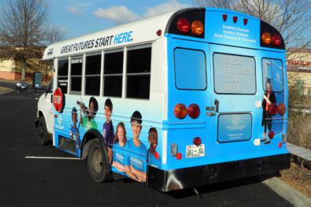 Full Custom Bus Wrap installed by 12-Point SignWorks/ Franklin