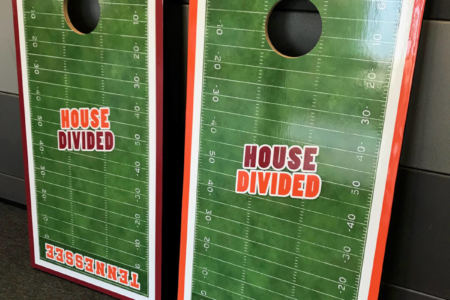 Custom Corn Hole Boards Fabricated & Installed by 12-Point SignWorks