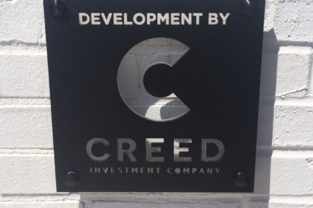 Architectural Logo Sign for Creed Investment Company in Nashville/ 12-Point SignWorks