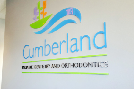 Dimensional Wall Logo Sign for Cumberland Pediatric Dentistry/ 12-Point SignWorks/ Franklin