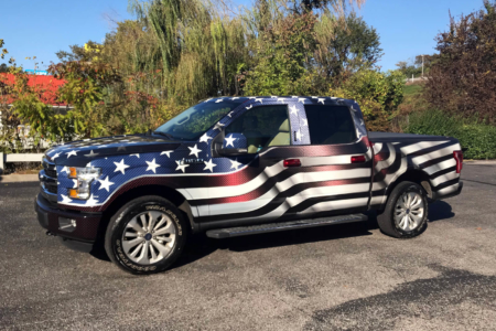 Patriotic Vehicle Wraps for Robertson County Sheriff's Office/ 12-Point SignWorks